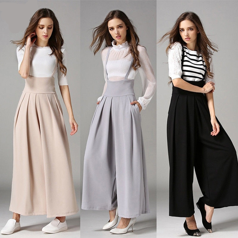 Casual Pleated Wide Leg Palazzo