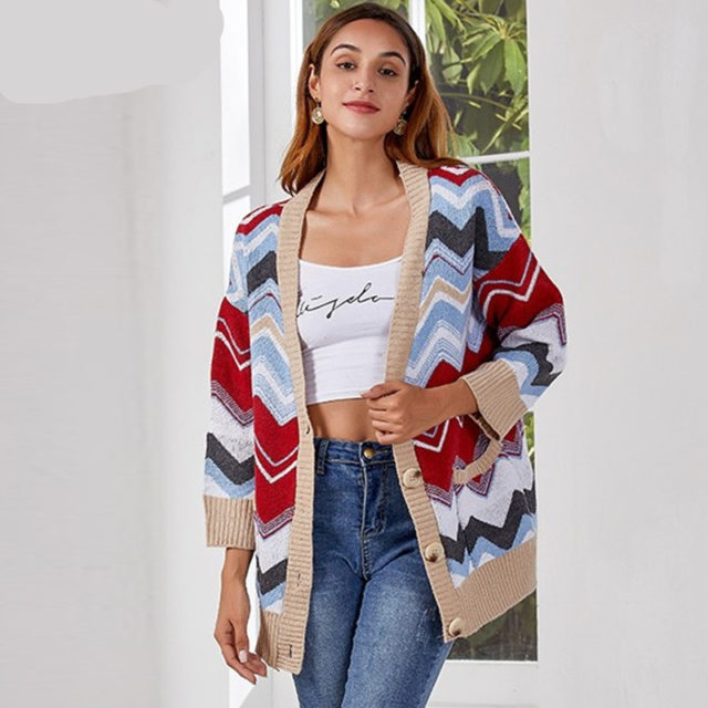 Buttoned V Neck Sweater