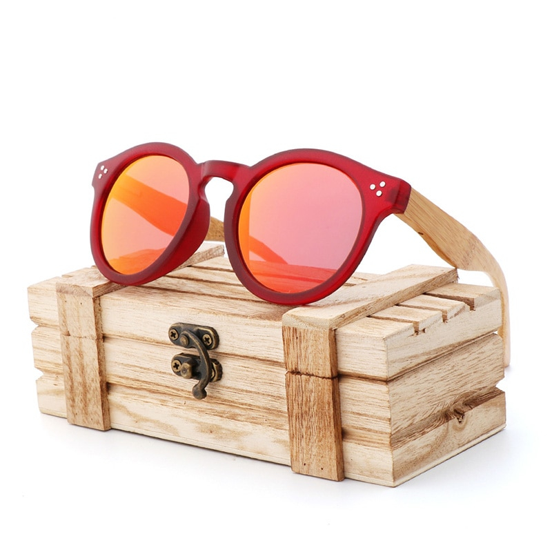 New Spot Hot PC Frame Fashion Sunglasses for Men and Women Hikers Polarized Sunglasses Bamboo and Wood Glasses UV400